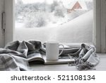 cozy winter still life  mug of... | Shutterstock . vector #521108134