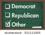 choosing your political party ... | Shutterstock . vector #521111005