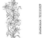 floral garland seamless pattern.... | Shutterstock .eps vector #521111029