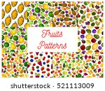 fruit and berry seamless... | Shutterstock .eps vector #521113009