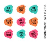 a set of sale cards vector... | Shutterstock .eps vector #521119711