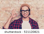 portrait of cheerful hipster