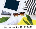 fashion blogger concept.... | Shutterstock . vector #521122651