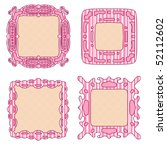 pink and beige tag or label... | Shutterstock . vector #52112602