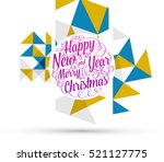 christmas design and elements... | Shutterstock .eps vector #521127775