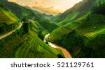 Mu Cang Chai, landscape terraced rice field near Sapa, north Vietnam
