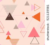 vector texture of geometric... | Shutterstock .eps vector #521135581