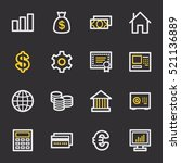 money web icons | Shutterstock .eps vector #521136889