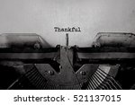 thankful typed words on a... | Shutterstock . vector #521137015