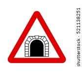 Tunnel Traffic Sign. Vector...