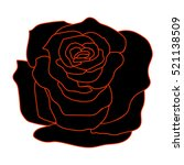 silhouette of a rose on  a... | Shutterstock .eps vector #521138509