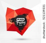 black friday sale typographic... | Shutterstock .eps vector #521139331