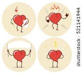 heart cartoon icons set. love ...   Shutterstock .eps vector #521141944