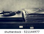 music old fashioned phonograph... | Shutterstock . vector #521144977