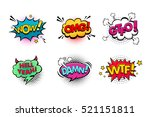 comic speech bubbles set with... | Shutterstock .eps vector #521151811