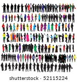 different groups of business... | Shutterstock .eps vector #52115224