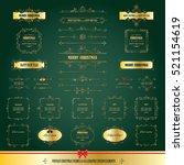 christmas frames  labels mega... | Shutterstock .eps vector #521154619