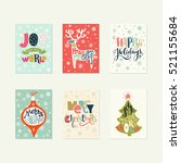 collection of handdrawn... | Shutterstock .eps vector #521155684