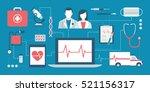 healthcare  doctors  emergency... | Shutterstock .eps vector #521156317