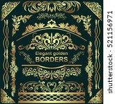 golden elegant borders  design... | Shutterstock .eps vector #521156971