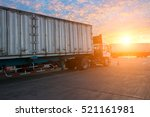 ccontainer truck for logistic... | Shutterstock . vector #521161981
