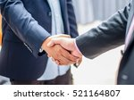 close up business man handshake ... | Shutterstock . vector #521164807