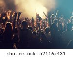 crowd at concert   cheering... | Shutterstock . vector #521165431