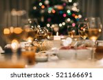 christmas dinner feast | Shutterstock . vector #521166691