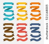set of retro ribbons and labels.... | Shutterstock .eps vector #521168005