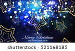 merry christmas and happy new... | Shutterstock .eps vector #521168185