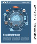 internet of things ... | Shutterstock .eps vector #521169625