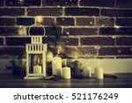 candles against magic holidays... | Shutterstock . vector #521176249