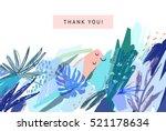 creative universal floral... | Shutterstock .eps vector #521178634