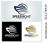 speed boat logo design template ... | Shutterstock .eps vector #521178919