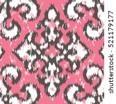 seamless distressed damask... | Shutterstock .eps vector #521179177