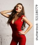 young beautiful pretty woman... | Shutterstock . vector #521180779