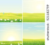 summer day. set of images with... | Shutterstock . vector #521182759