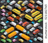 traffic jam on the road ... | Shutterstock . vector #521182765
