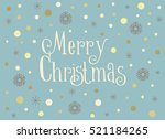 merry christmas card with... | Shutterstock .eps vector #521184265