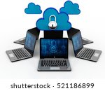 3d. cloud computing  cloud ... | Shutterstock . vector #521186899