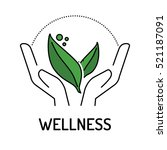 wellness line icon | Shutterstock .eps vector #521187091