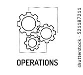 operations line icon | Shutterstock .eps vector #521187211