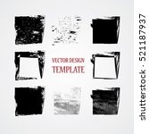 stamps collection. grunge... | Shutterstock .eps vector #521187937