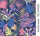 tropical leaves seamless pattern | Shutterstock .eps vector #521190181