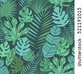 tropical leaves seamless pattern   Shutterstock .eps vector #521191015