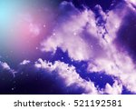 space of night sky with cloud... | Shutterstock . vector #521192581