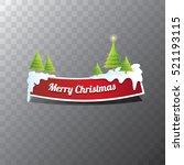 christmas vector red glossy... | Shutterstock .eps vector #521193115