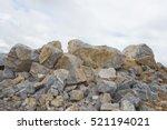 A Large Pile Of Limestone...