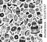 vector sweets. seamless pattern ... | Shutterstock .eps vector #521197147