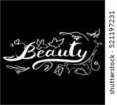 calligraphy  beauty vector | Shutterstock .eps vector #521197231
